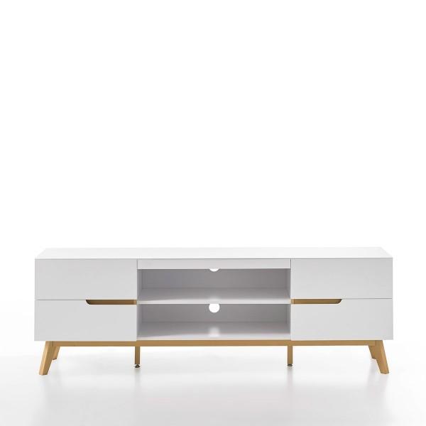 Lowboard in Weiß im skandinavischen Design bei flamme.de