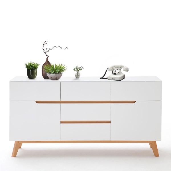 Große Kommode in Weiß im skandinavischen Design bei flamme.de