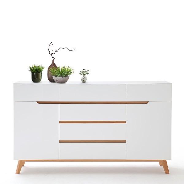 Sideboard in weiß im skandinavischen Design bei flamme.de