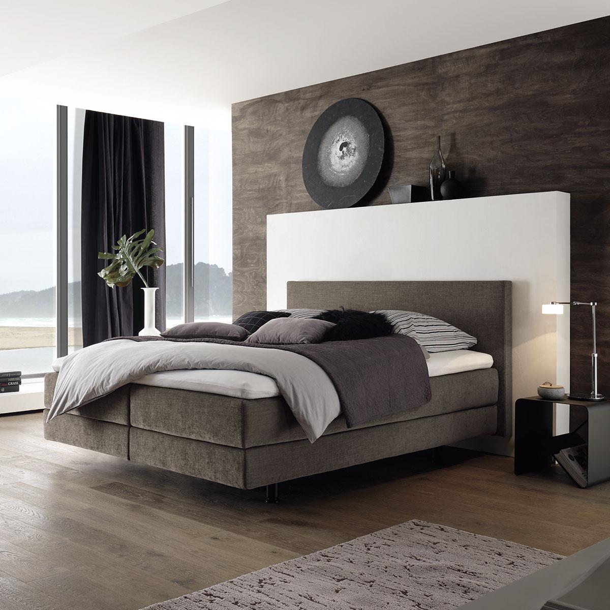 boxspringbett von h lsta in braun ca 180x200 cm flamme. Black Bedroom Furniture Sets. Home Design Ideas