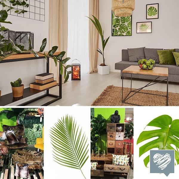 Sommerdeko Im Urban Jungle Trend Dschungel Im Wohnzimmer Flamme
