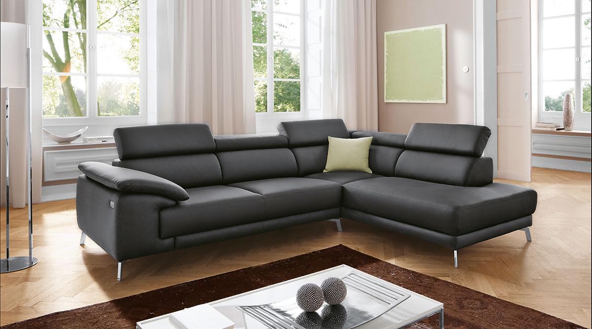 polsterecke fm120 in leder flamme. Black Bedroom Furniture Sets. Home Design Ideas