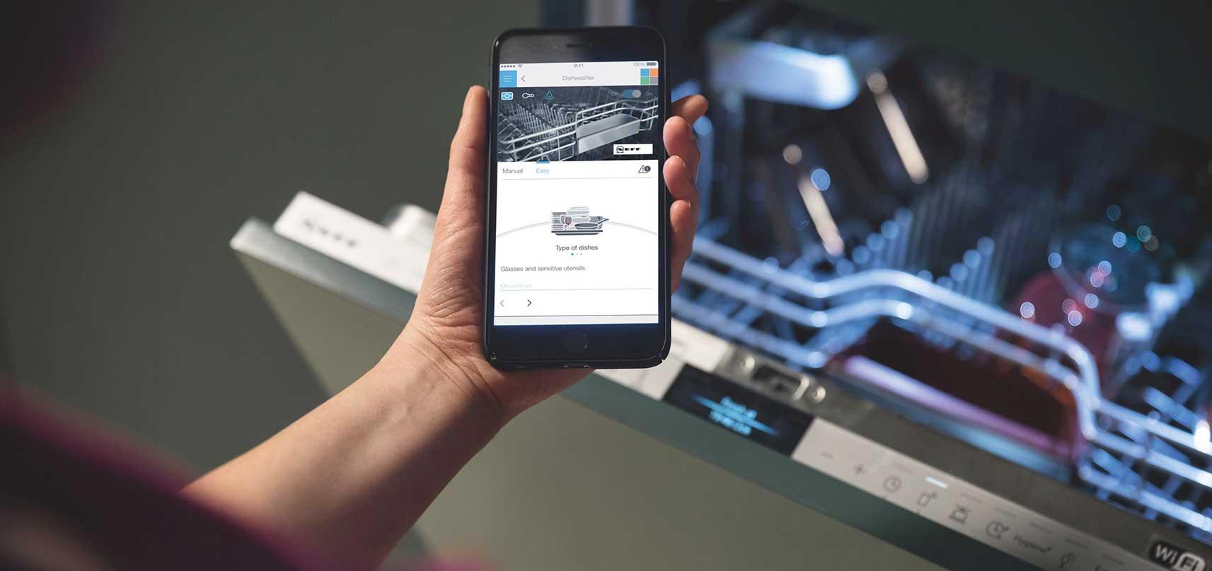 Geschirrspüler per Smartphone steuern mit Home Connect