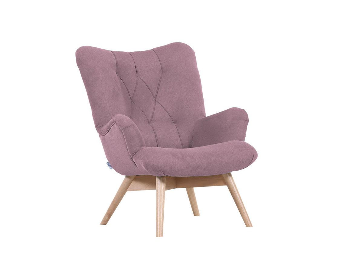designsessel in stoffbezug flieder flamme. Black Bedroom Furniture Sets. Home Design Ideas