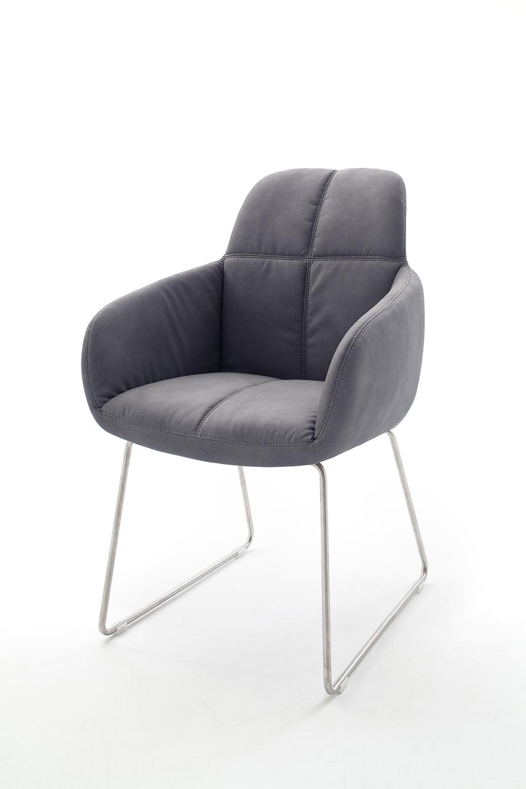 Schreibtischstuhl modern grau for Stuhl armlehne grau