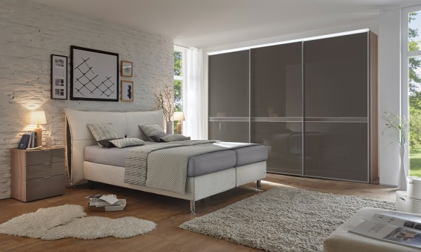boxspringbett santino von ruf betten ca 180x200 cm flamme. Black Bedroom Furniture Sets. Home Design Ideas
