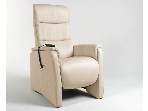 Praktischer Sessel in Lederbezug bei flamme.de