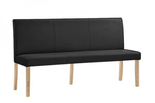 Polsterbank mit Rückenlehne in schwarz 140x90x40 cm