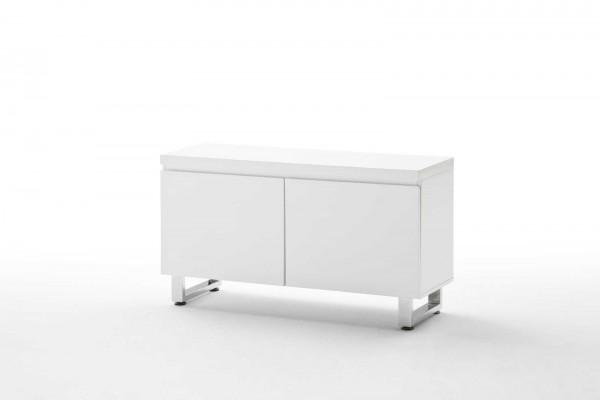 Garderobenkommode in Hochglanz, weiß 111x60x38 cm