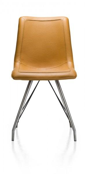 Stuhl in Bezug Tatra Lederlook mostard bei flamme.de
