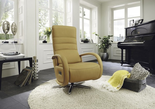 Ergonomischer Relaxsessel in Leder bei flamme.de