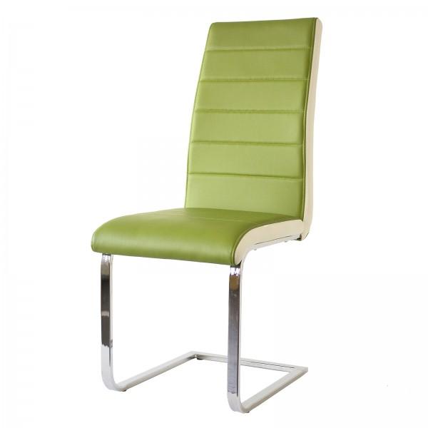Eleganter Schwingstuhl in Apple/Weiß bei flamme.de