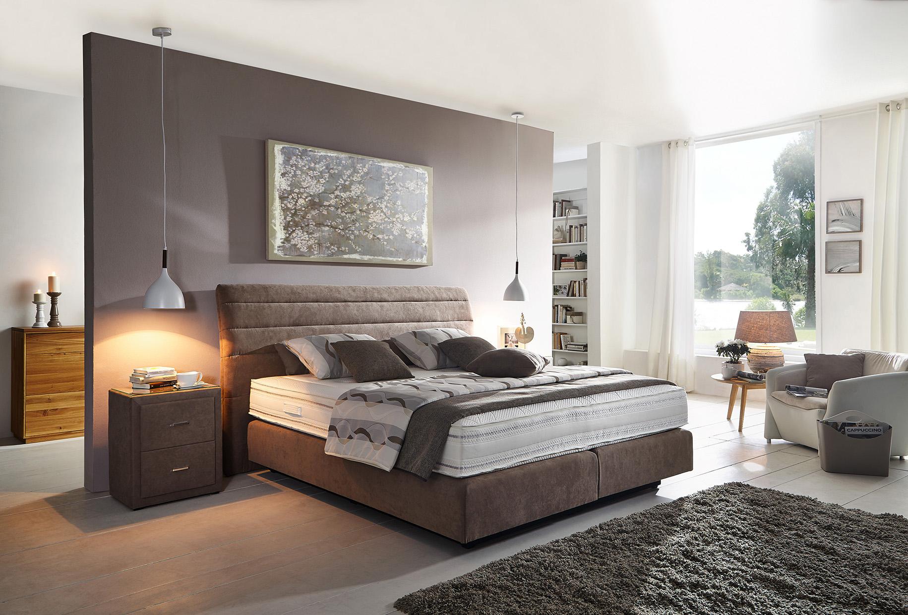 boxspringbett ca 180x200 cm flamme. Black Bedroom Furniture Sets. Home Design Ideas