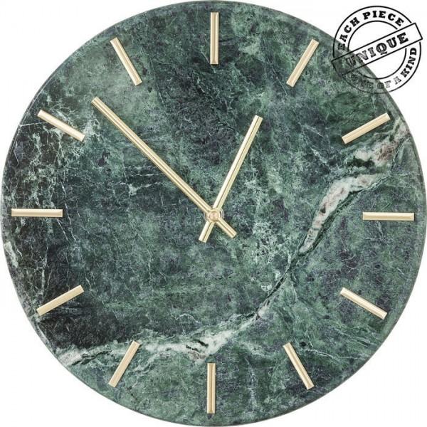Wanduhr Desire von KARE in Marmor grün