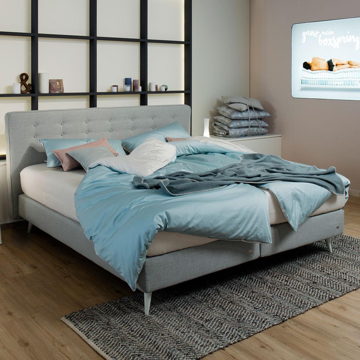 boxspringbett mio von ruf betten ca 180x200 cm flamme. Black Bedroom Furniture Sets. Home Design Ideas