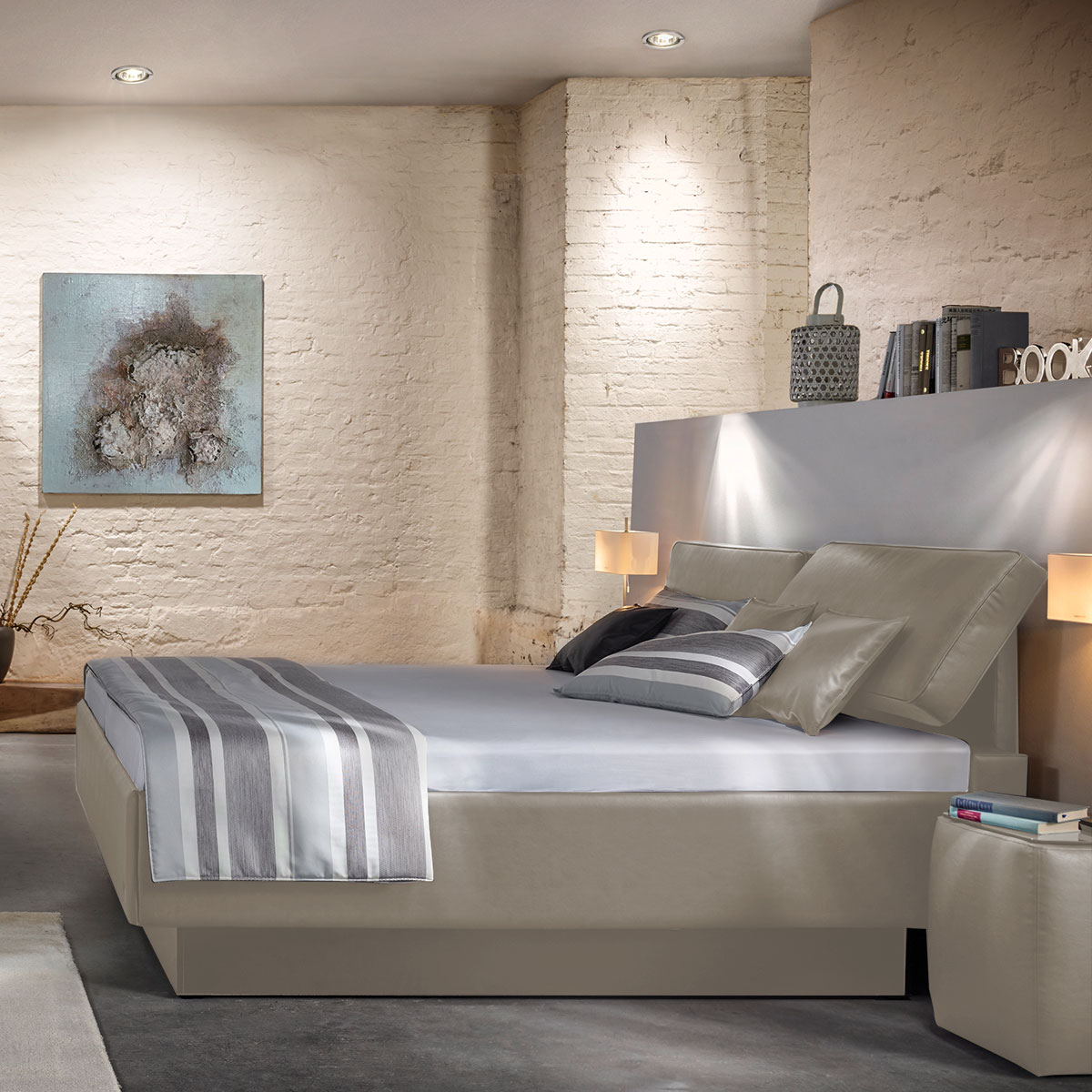 polsterbett g nstig kaufen flamme. Black Bedroom Furniture Sets. Home Design Ideas