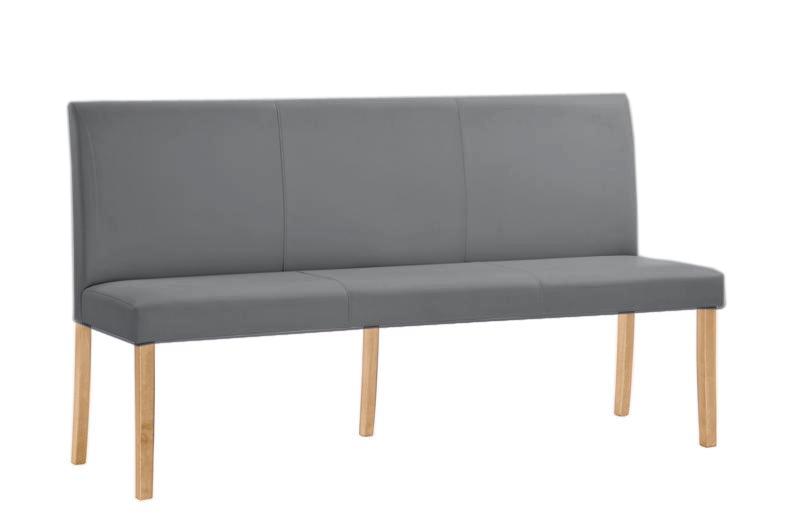 polsterbank mit r ckenlehne in grau 140x40 cm flamme. Black Bedroom Furniture Sets. Home Design Ideas