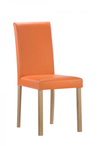 Polsterstuhl mit Holzbeinen in Orange bei flamme.de