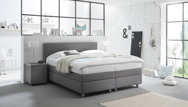 boxspringbett verena von ruf betten ca 180x200 cm flamme. Black Bedroom Furniture Sets. Home Design Ideas