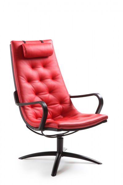 Relaxsessel in Leder rot bei flamme.de