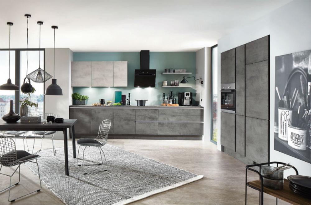 Moderne Küche in Beton-Optik
