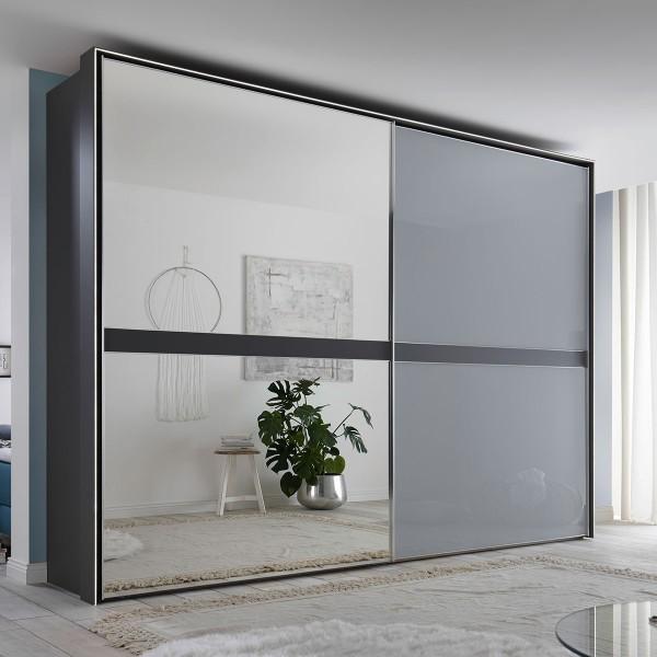 Spiegelschrank Malaga in Grau/Spiegel, ca. 306x222 cm bei flamme.de